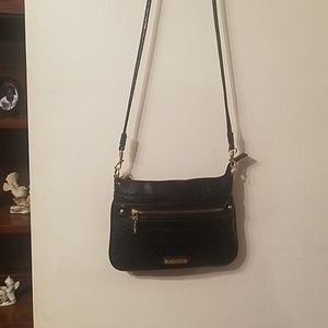 NWOT. Really nice black leather Anne Klein purse.
